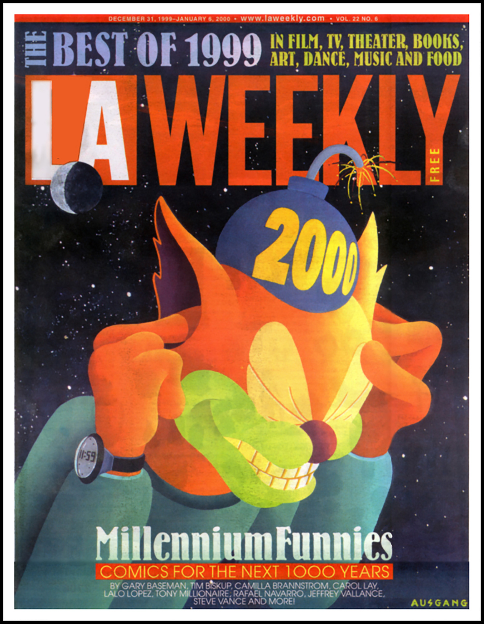 LA Weekly cover, 1999