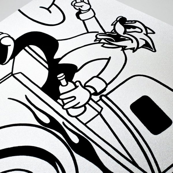 Saved By Stupidity print closeup 2